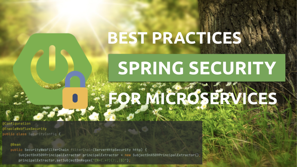 Spring Microservices Security Best Practices